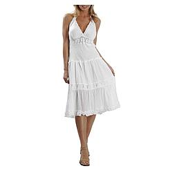 Cotton Embroidered Beach Wedding Dress