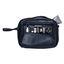 Personalized Nappa Leather Toiletry Combo Grooming Set