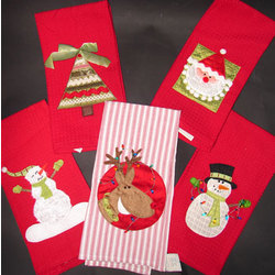 Personalized Decorative Christmas Kitchen Towels