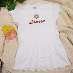Embroidered Icon Infant Romper Dress