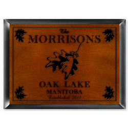 White Oak Cabin Sign