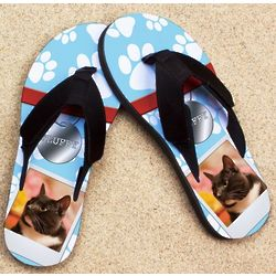 Personalized Pet Nametag Pro Fit Photo Sandal