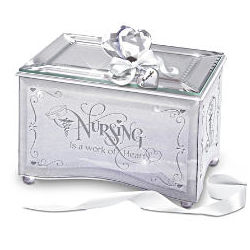 Nurse's Reflections of Tender Loving Care Personalized Music Box
