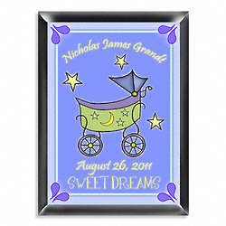 Personalized Carriage Room Sign in Blue or Pink