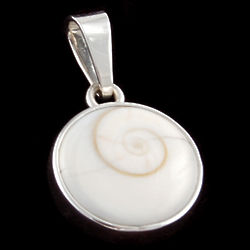 Shiva Eye Shell Pendant in Sterling Silver
