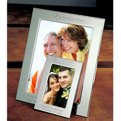 Personalized Our Hearts Silver Picture Frame