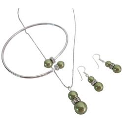 Swarovski Green Pearl Jewelry Set