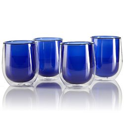 Azure Glass Tea Cups