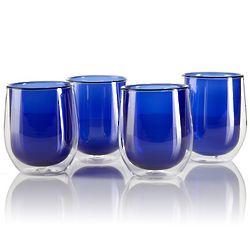 Azure Glass Tea Cups