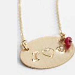 Ruby I Heart You Necklace