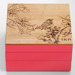 Lacquered Wood Modular Jewelry Box
