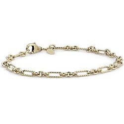 Figaro Bracelet in Yellow Gold Vermeil