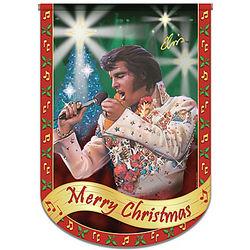 Elvis Merry Christmas Flag