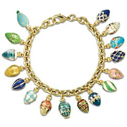 Treasures of the Heart Luxury Faberge-Style Charm Bracelet