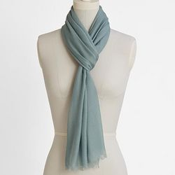 Light Blue Cashmere Blend Featherweight Scarf