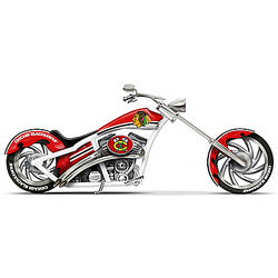 Chicago Blackhawks Motorcycle Figurine