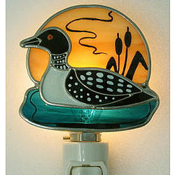 Loon Stained Glass Nightlight