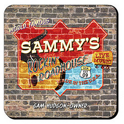 Personalized Roadhouse Coaster Set