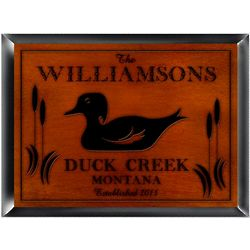 Personalized Wood Duck Cabin Sign