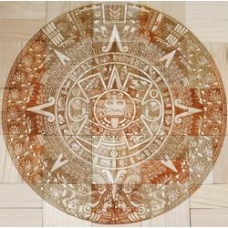 Laser Engraved Aztec Calendar Puzzle