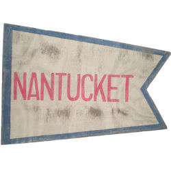 Nantucket Flag Wood Sign