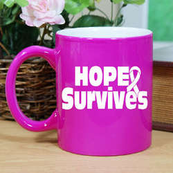 Hope Survives Two-Tone Ceramic Mug