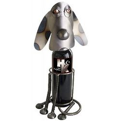 Sitting Hound Dog Wine Caddy