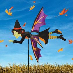 Spooky Spinner Witch Lawn Ornament