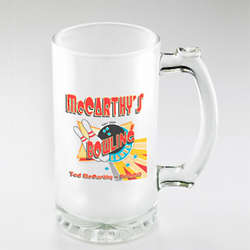 Personalized Bowling Frosted Beer Mug