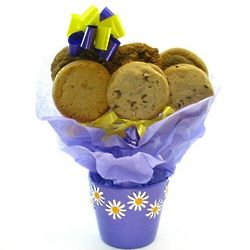 Daisy Planter with Gourmet Cookies