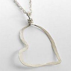 Handmade Open Heart Necklace