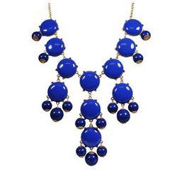 Royal Blue Bubble Bib Statement Necklace