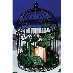 Decorative Black Bird Cage Centerpiece