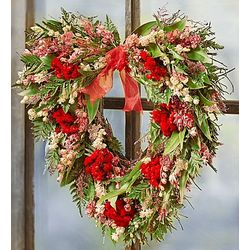Preserved Sympathy Heart Wreath