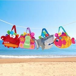 Kids Personalized Beach Tote with Toys