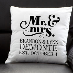 The Happy Couple Personalized Throw Pillow