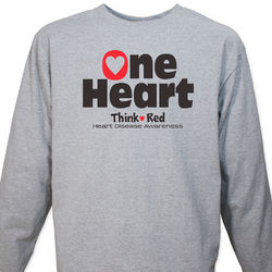 Think Red Heart Disease Awareness Long Sleeve Shirt
