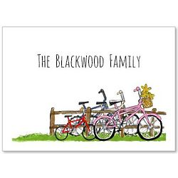 Personalized Family of Bicycles Stationery