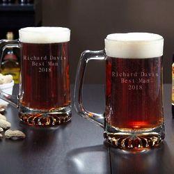 Personalized Celebratory Beer Mugs