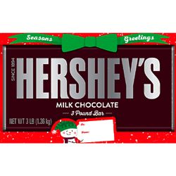 Giant 3 Pound Season's Greetings Milk Chocolate Hershey Bar