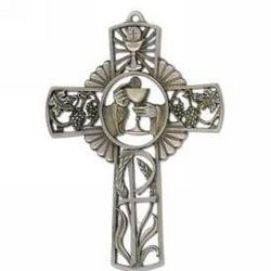 First Communion Fine Pewter Cross