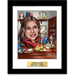 Custom Lawyer Caricature