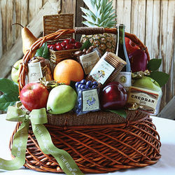 Bountiful Harvest Fruit and Gourmet Basket