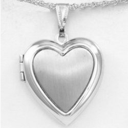 Engraved Pewter Heart Locket