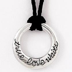 True Love Waits Circle Pendant Necklace