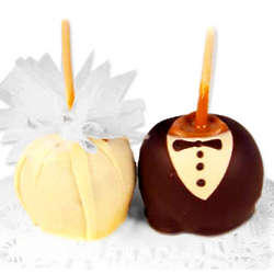 Bride or Groom Gourmet Caramel Apple