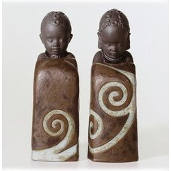 Pulse of Africa Porcelain Salt and Pepper Shakers