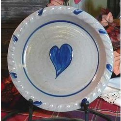 Heart Pattern Stoneware Pie Plate