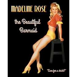 Personalized Beautiful Barmaid Pin-up Print