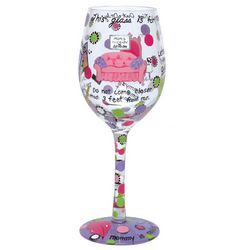 Mommy's Time Out Wine Glass